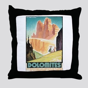 Dolomites Italy Throw Pillow