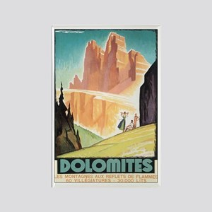 Dolomites Italy Rectangle Magnet