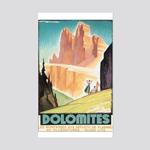 Dolomites Italy Rectangle Sticker