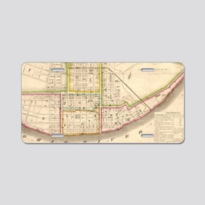 Vintage Map of Cincinnati O Aluminum License Plate