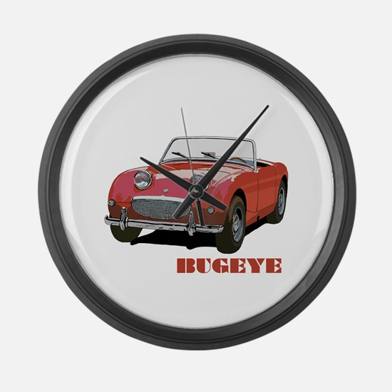 Red Bugeye Large Wall Clock