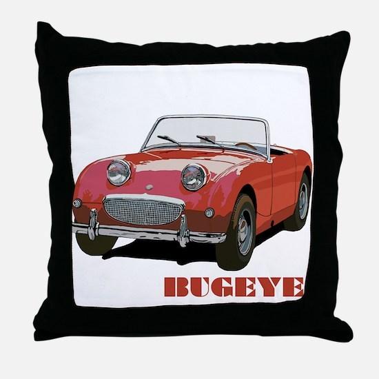 Red Bugeye Throw Pillow