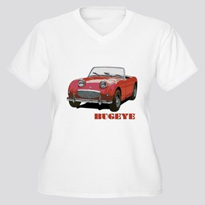 Red Bugeye Women's Plus Size V-Neck T-Shirt