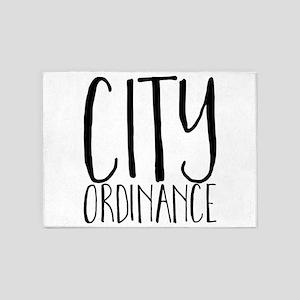 City Ordinance 5'x7'Area Rug