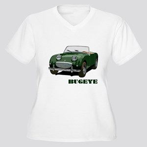 Green Bugeye Women's Plus Size V-Neck T-Shirt