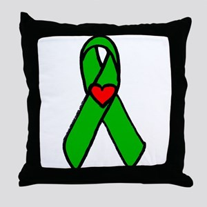 """Heart transplant ribbon..."" Throw Pillow"
