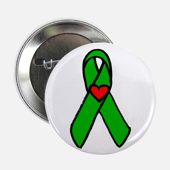 """Heart transplant ribbon..."" 2.25"" Button (10 pack"