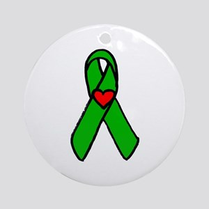 """Heart transplant ribbon..."" Keepsake (Round)"