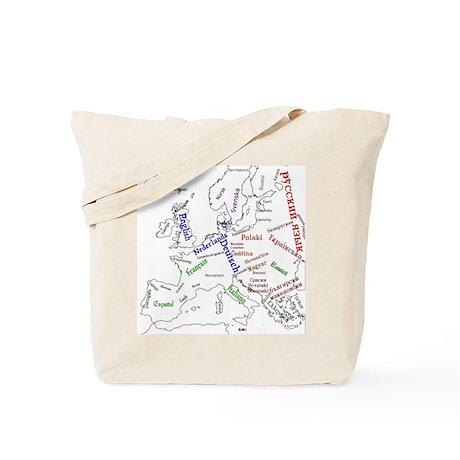 Languages of Europe Tote Bag