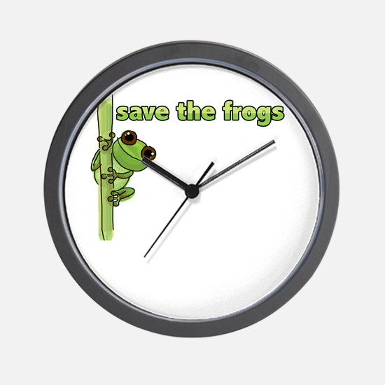 Save the Frogs Wall Clock