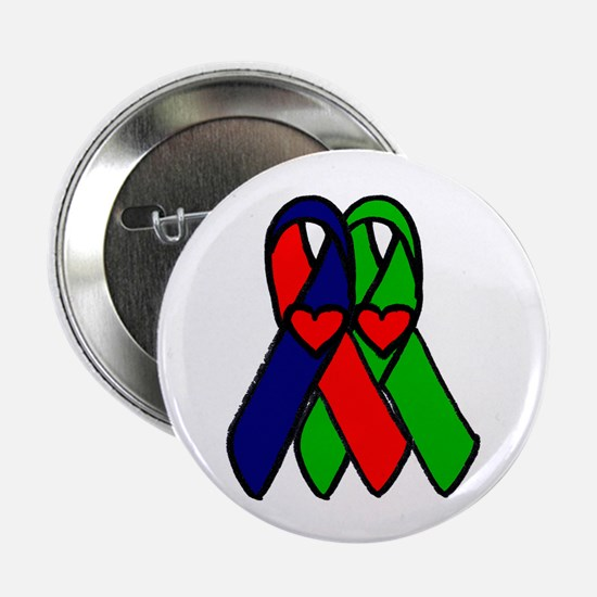 """""""Double Ribbon..."""" 2.25"""" Button (10 pack)"""