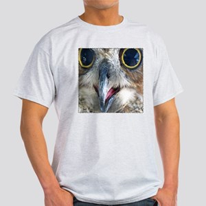 Great Horned Owl Eyes Ash Grey T-Shirt