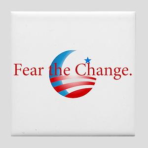 Fear the Change Tile Coaster