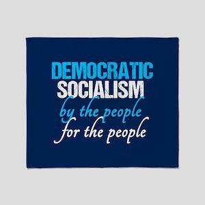 Democratic Socialism Throw Blanket