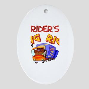 Rider's Big Rig Oval Ornament