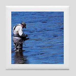 Fisherman Tile Coaster