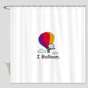 Hot Air Ballooning Stick Figure Shower Curtain