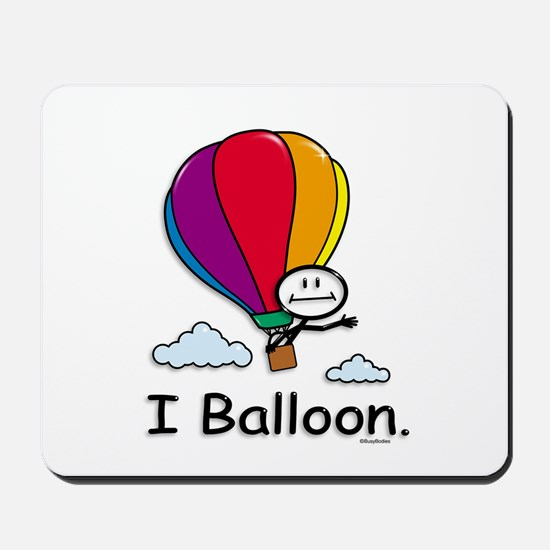 Hot Air Ballooning Stick Figure Mousepad