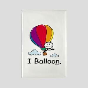 Hot Air Ballooning Stick Figure Rectangle Magnet