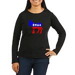 Obama Poker Women's Long Sleeve Dark T-Shirt