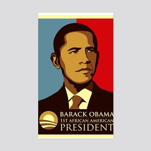 Obama Graffiti Rectangle Sticker