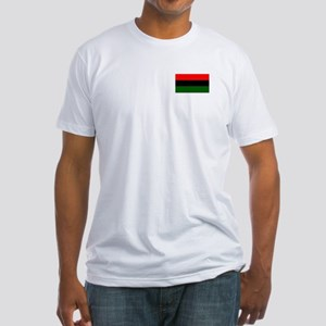 Red Black and Green Flag Fitted T-Shirt