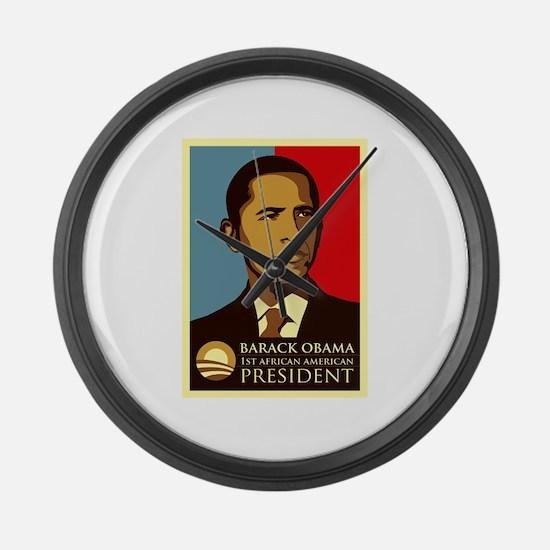 Black president Large Wall Clock