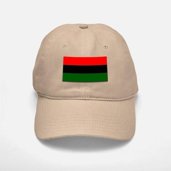 Red Black and Green Flag Baseball Baseball Cap