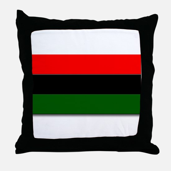 Red Black and Green Flag Throw Pillow