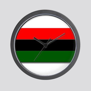 Red Black and Green Flag Wall Clock