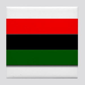 Red Black and Green Flag Tile Coaster