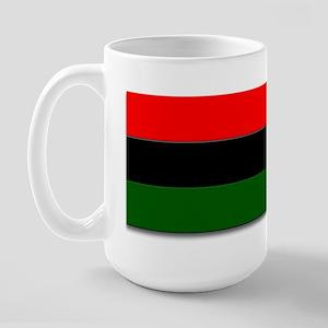 Red Black and Green Flag Large Mug