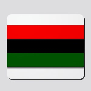 Red Black and Green Flag Mousepad