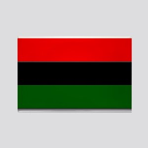 Red Black and Green Flag Rectangle Magnet
