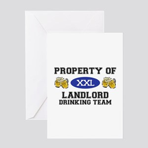 Property of Landlord Drinking Team Greeting Card
