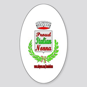 PROUD NONNA Oval Sticker