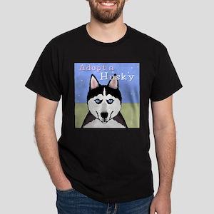 Adopt a Siberian Husky Dark T-Shirt