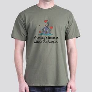 Grampy's Home is Where the Heart is Dark T-Shirt