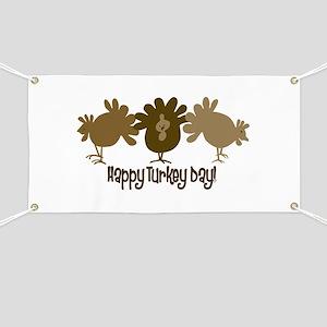 Happy Turkey Day Banner