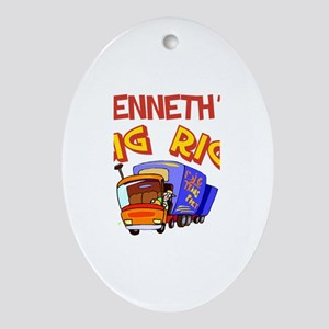 Kenneth's Big Rig Oval Ornament