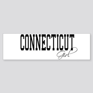 Connecticut Girl Bumper Sticker