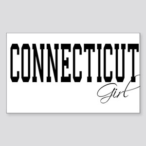 Connecticut Girl Rectangle Sticker