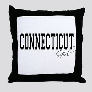 Connecticut Girl Throw Pillow