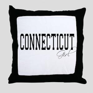 Connecticut Girl Throw Pillow