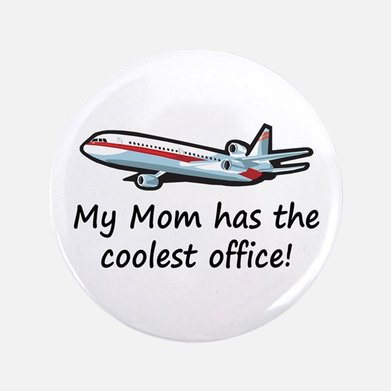 """Mom's Cool Airplane 3.5"""" Button"""