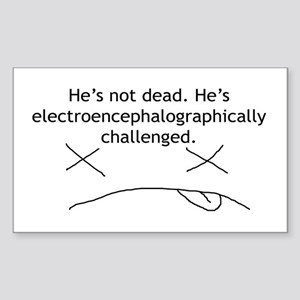 Just Challenged 2 Rectangle Sticker