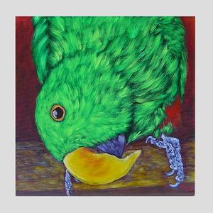 Eclectus Parrot Bird Tile Coaster