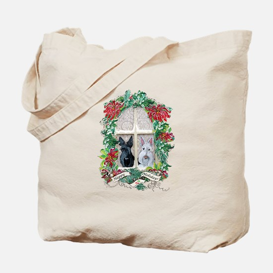 Scottie Terrier Holiday Tote Bag