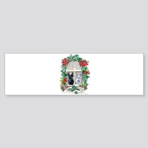 Scottie Terrier Holiday Bumper Sticker