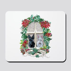 Scottie Terrier Holiday Mousepad